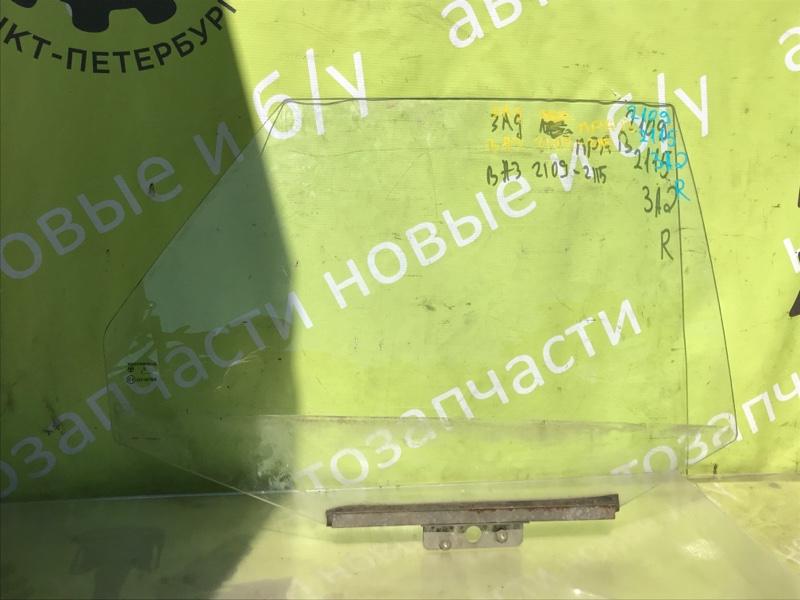 Стекло двери Ваз 2109 заднее правое (б/у)