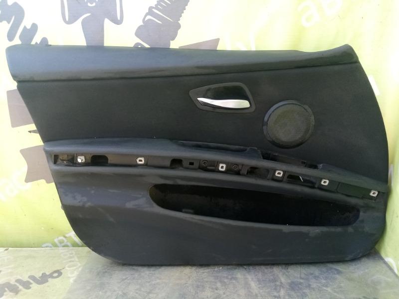 Обшивка двери Bmw E90 Рестайлинг передняя левая (б/у)