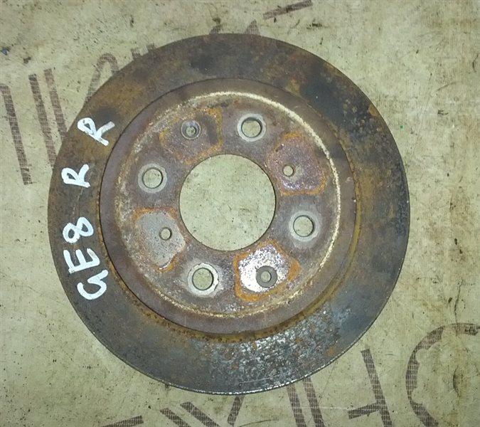 Тормозной диск Honda Fit GE8 2008 задний правый (б/у)