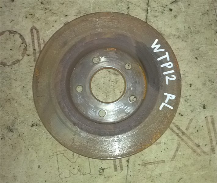Тормозной диск Nissan Primera WTP12 QR20(DE) 2002 задний левый (б/у)