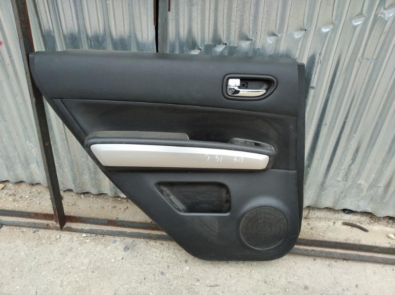 Обшивка двери Nissan Xtrail T31 2007 задняя левая (б/у)