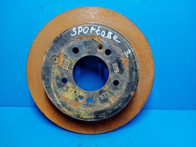 Тормозной диск Kia Sportage 4 2015 задний (б/у)