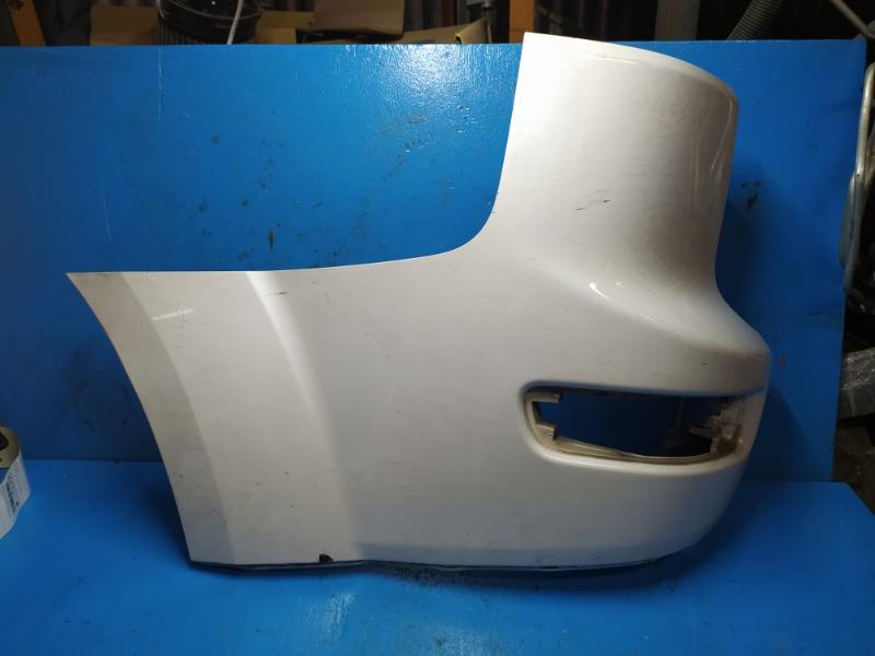 Накладка бампера Mitsubishi Outlander Xl 2006 задняя левая (б/у)