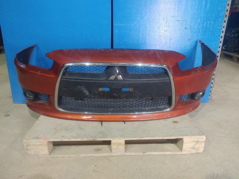 Бампер Mitsubishi Lancer 10 2010 передний (б/у)