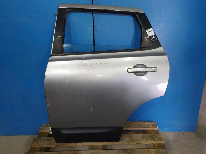 Дверь Nissan Qashqai J10 2006 задняя левая (б/у)