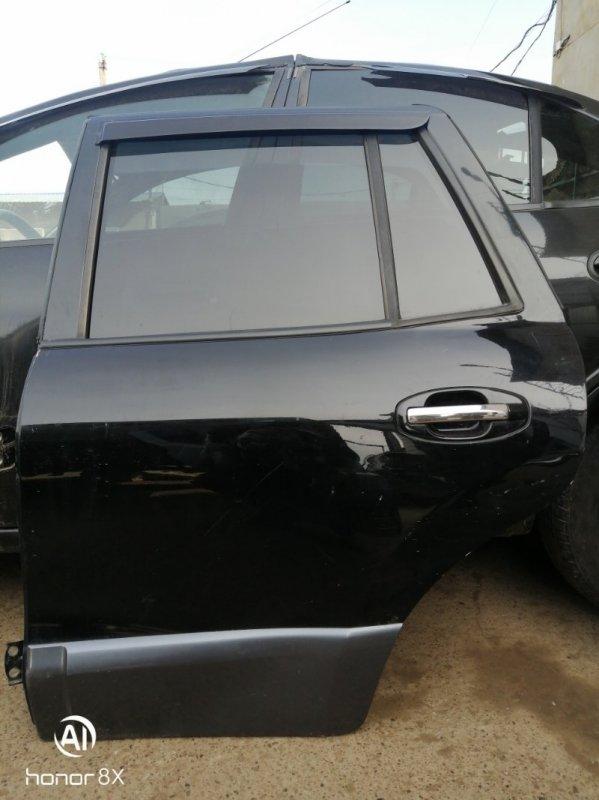 Дверь Hyundai Santa Fe G6BA 2003 задняя левая (б/у)