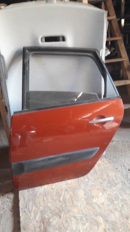 Дверь Renault Scenic 3 задняя левая (б/у)