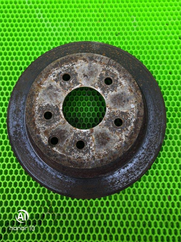 Диск тормозной Nissan Teana J31 VQ23DE 2006 задний правый (б/у)