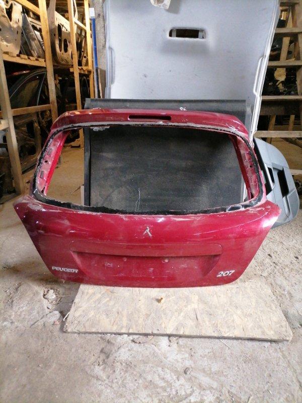Дверь багажника Peugeot 207 задняя (б/у)