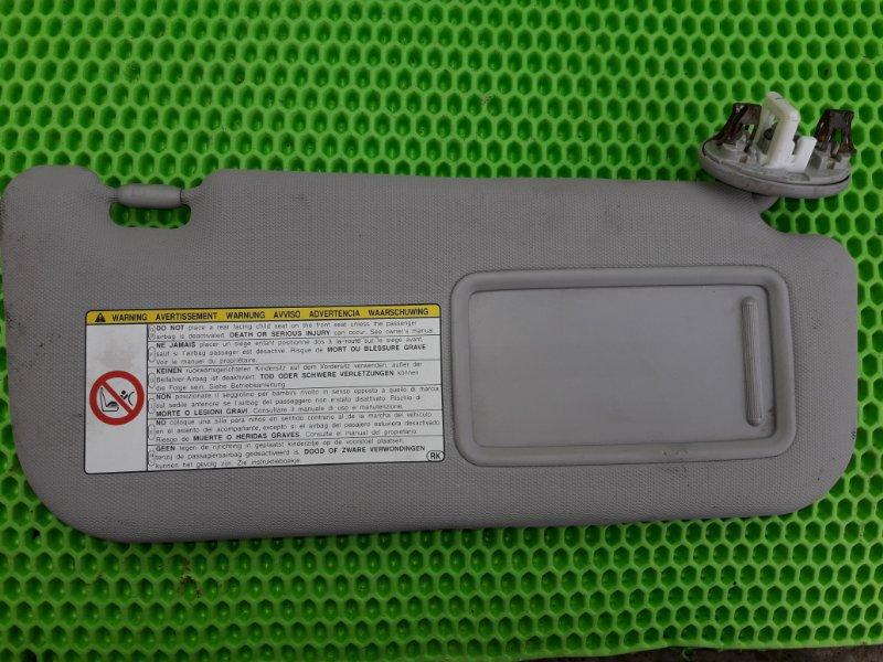 Козырек солнцезащитный Toyota Corolla 151 1ZR-FE 2010 передний левый (б/у)