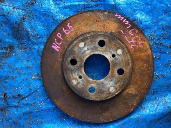 Тормозной диск Toyota Ist NCP65 передний левый (б/у)