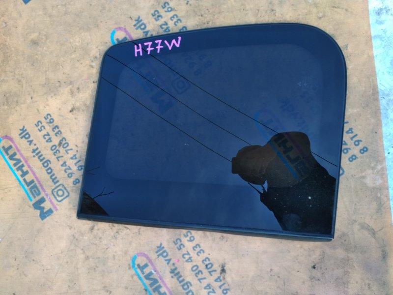 Стекло собачника Mitsubishi Pajero Io H77W 4G94 заднее левое (б/у)