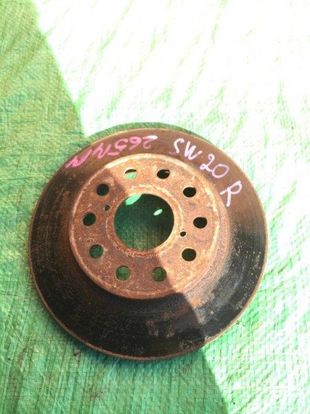 Тормозной диск Toyota Mr-2 SW20 3SGE передний левый (б/у)