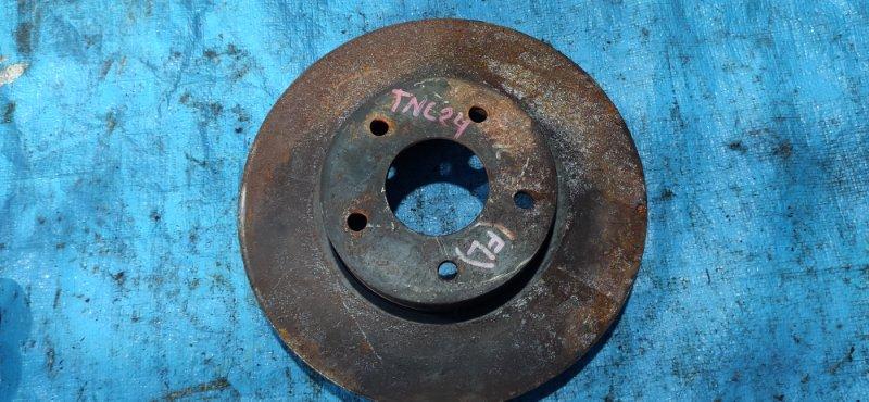 Тормозной диск Nissan Serena TNC24 передний (б/у)