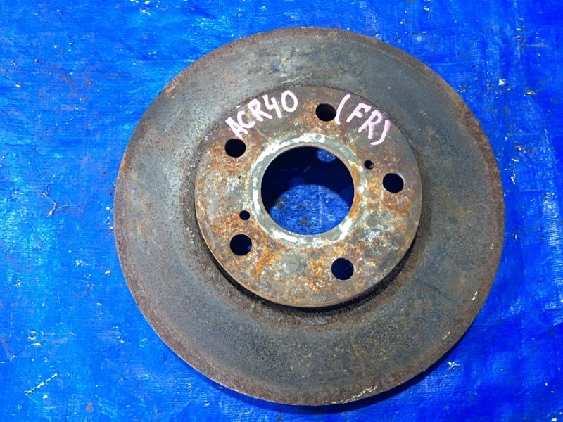 Тормозной диск Toyota Estima ACR40 2AZFE передний правый (б/у)