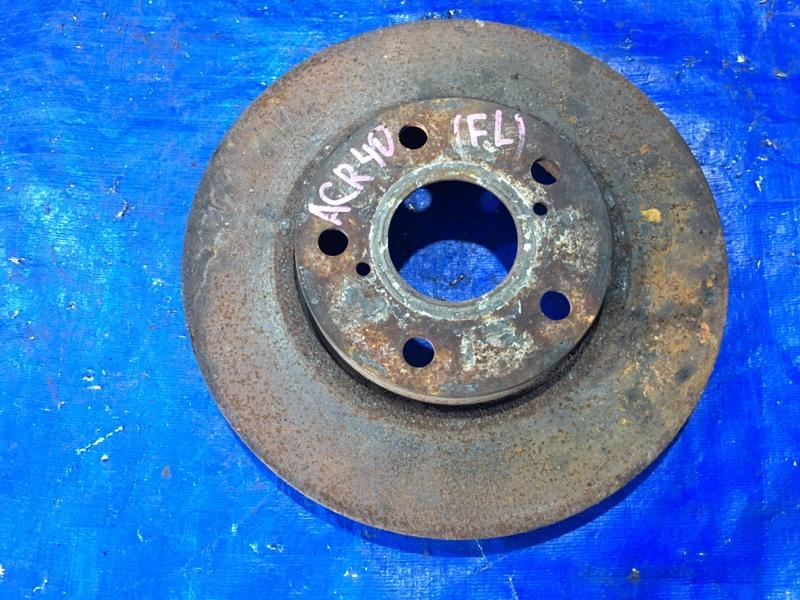 Тормозной диск Toyota Estima ACR40 2AZFE передний левый (б/у)