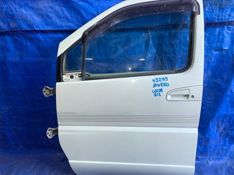 Дверь Nissan Elgrand AVWE50 передняя левая (б/у)