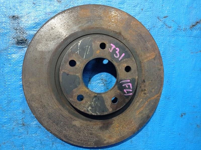 Тормозной диск Nissan Teana J31 передний левый (б/у)