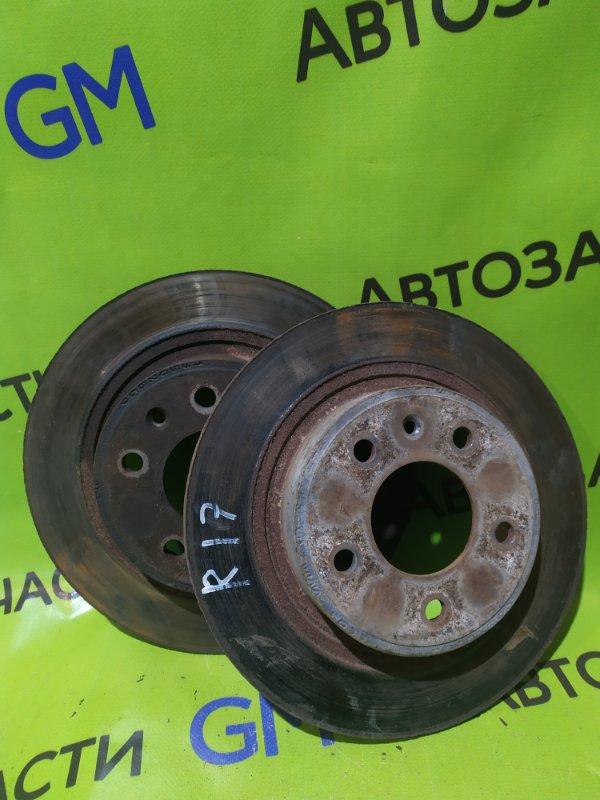 Тормозной диск Opel Astra J Gtc P10 A14NET 2012 задний (б/у)