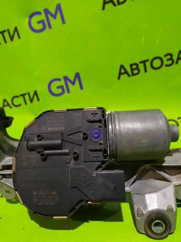 Моторчик стеклоочистителя Opel Astra J Gtc P10 A14NET 2012 передний (б/у)