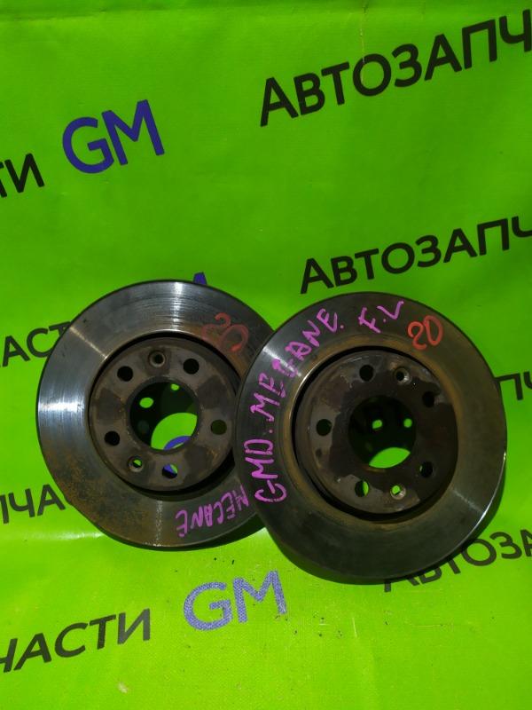 Тормозной диск Renault Megane BZ0G M4R713 2011 передний (б/у)