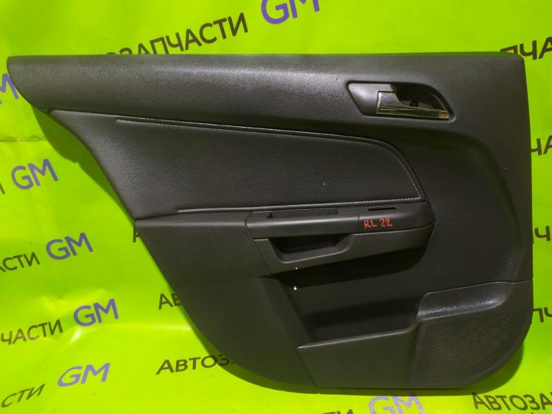 Обшивка двери Opel Astra L35 Z18XER 2007 задняя левая (б/у)