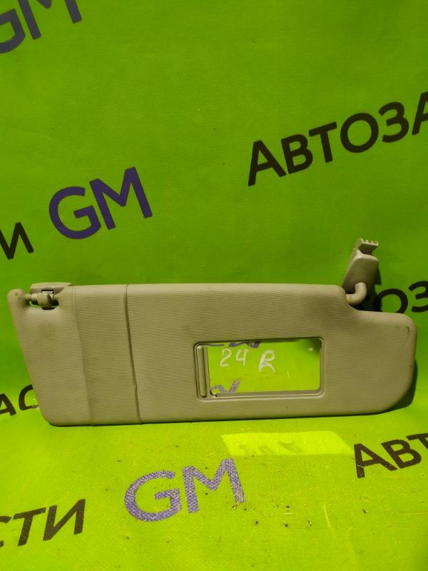 Козырек солнцезащитный Skoda Octavia A4 AKL 2005 передний правый (б/у)
