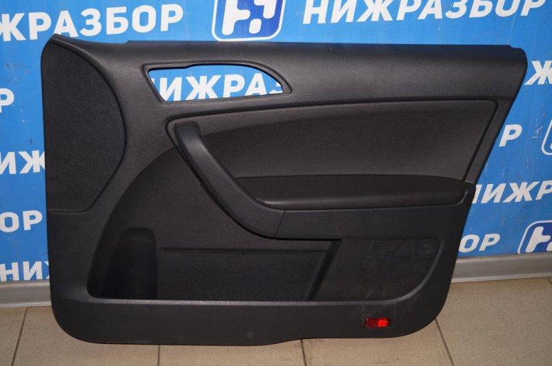 Обшивка двери Skoda Yeti КРОССОВЕР 1.2T (CBZB) 2011 передняя правая (б/у)