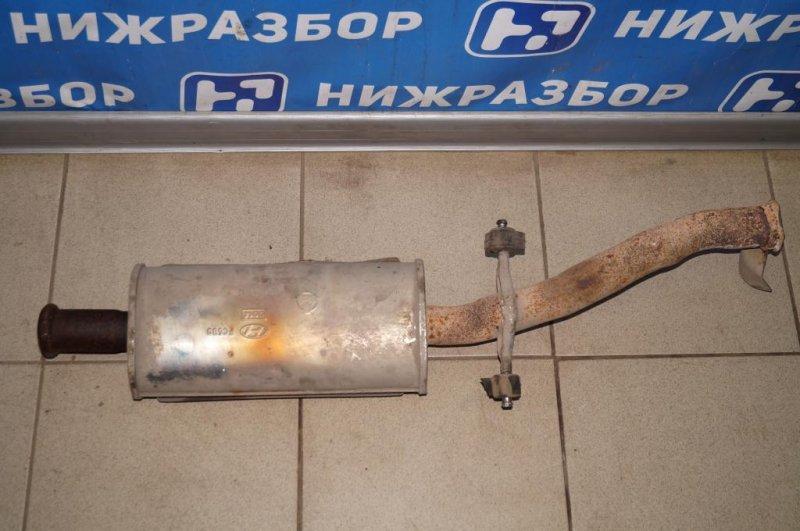 Приемная труба глушителя Hyundai Matrix 1.8L (G4GB) 2005 (б/у)