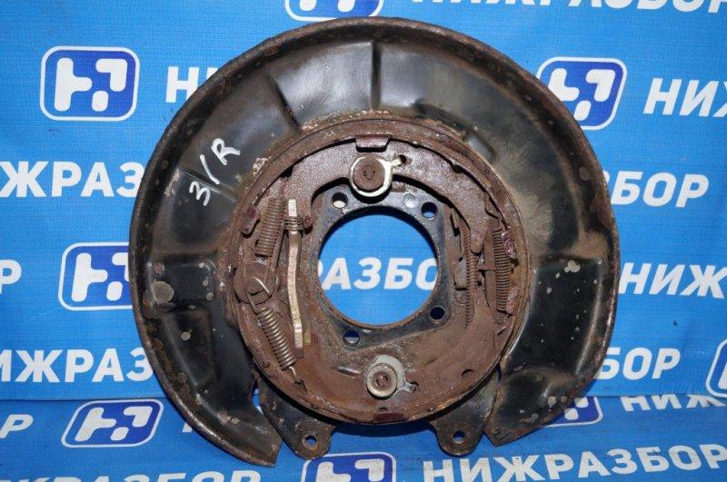 Щит опорный Chery Tiggo T11 2.4 (4G64S4M) 2005 задний правый (б/у)