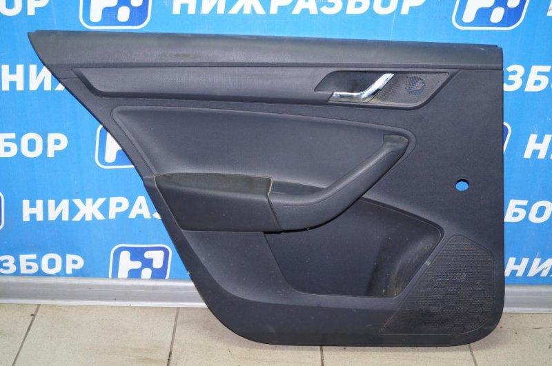 Обшивка двери Skoda Rapid 1.6 CWV 2016 задняя левая (б/у)