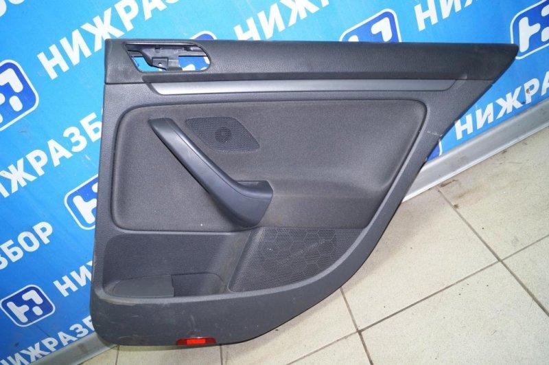 Обшивка двери Volkswagen Jetta 5 1.6 BSE 2007 задняя правая (б/у)