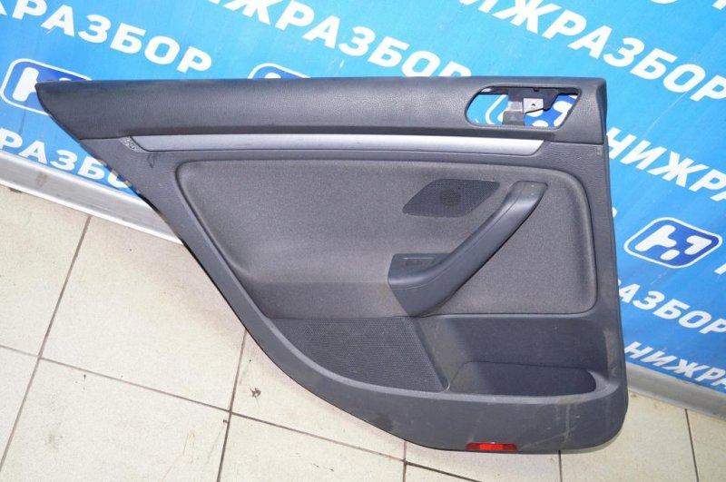 Обшивка двери Volkswagen Jetta 5 1.6 BSE 2007 задняя левая (б/у)