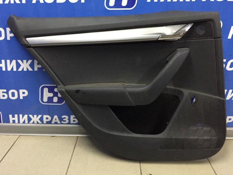 Обшивка двери Skoda Octavia A7 1.6 CWVA 2016 задняя левая (б/у)