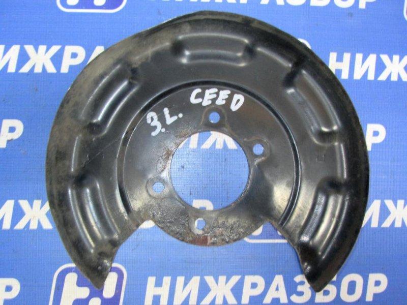 Пыльник тормозного диска Kia Ceed 2 JD 1.6 (G4FG) 2014 (б/у)