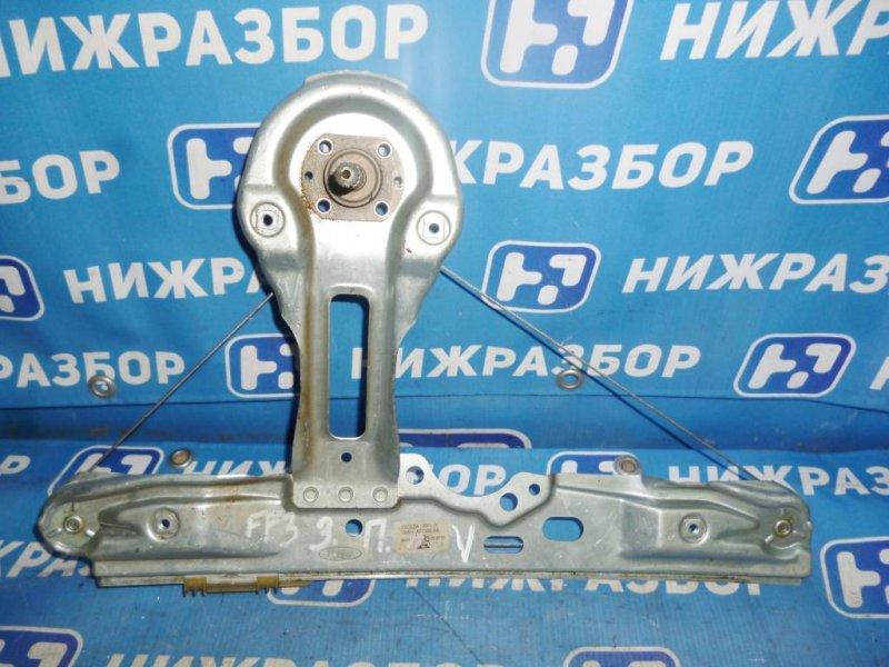 Стеклоподъемник мех. Ford Focus 3 задний правый (б/у)
