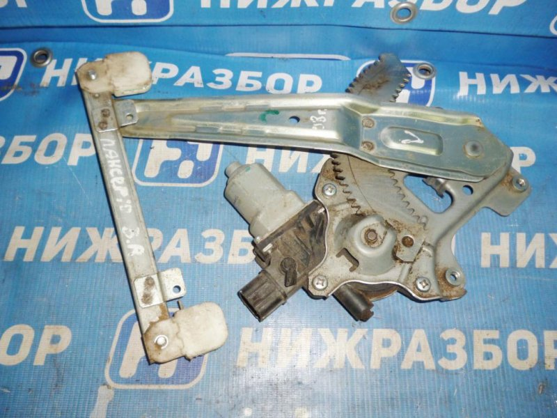 Стеклоподъемник эл. Mitsubishi Lancer 10 CY 2007 задний правый (б/у)