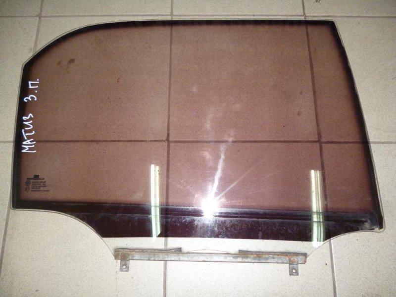 Стекло двери Daewoo Matiz M100/M150 1998 заднее правое (б/у)