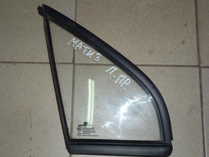 Форточка двери Daewoo Matiz M100/M150 1998 передняя правая (б/у)