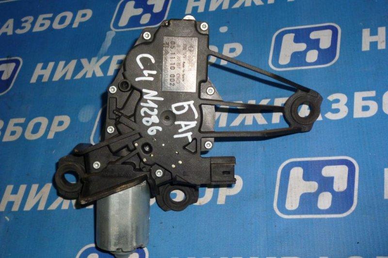 Моторчик стеклоочистителя Citroen C4 ХЭТЧБЕК 1.6 (PSA NFU) 2005 задний (б/у)