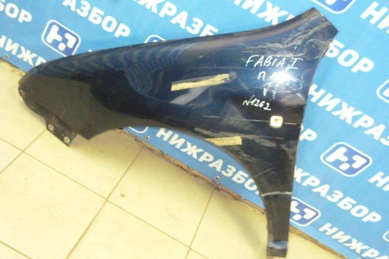 Крыло Skoda Fabia 1999 переднее левое (б/у)