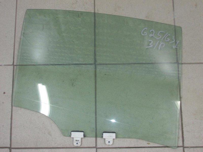 Стекло двери Infiniti G 35 V36 2007 заднее правое (б/у)