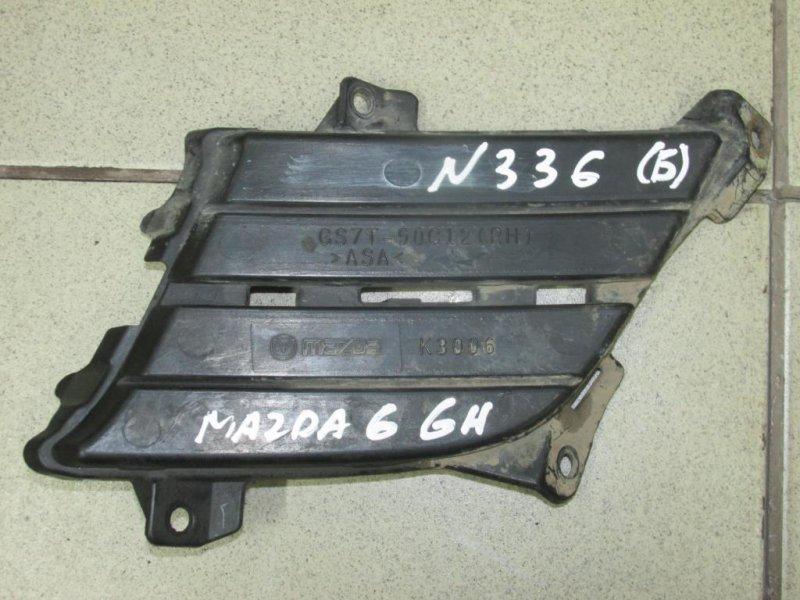 Решетка в бампер Mazda 6 GH 2007 правая (б/у)