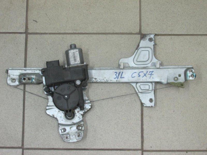 Стеклоподъемник эл. Citroen C5 2008> задний левый (б/у)