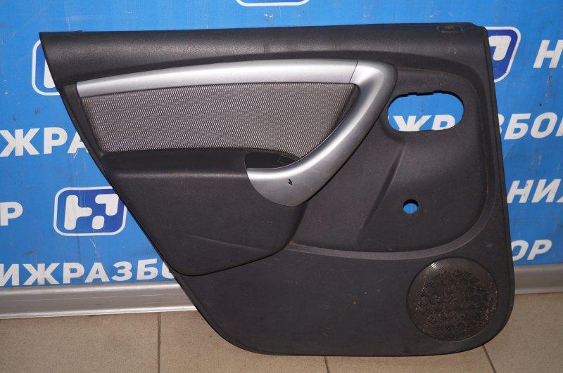 Обшивка двери Renault Duster 2.0 F4RB403 2012 задняя левая (б/у)