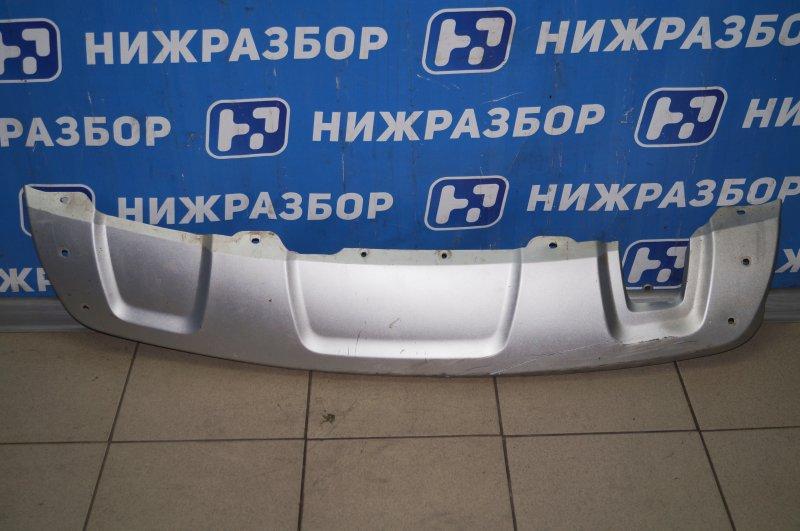 Накладка бампера Renault Duster 2.0 F4RB403 2012 задняя (б/у)