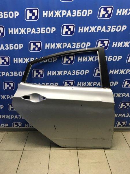 Дверь Hyundai Solaris СЕДАН 2010 задняя правая (б/у)