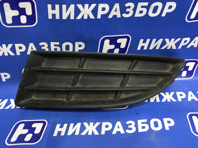 Решетка в бампер Skoda Fabia 2007 передняя левая (б/у)