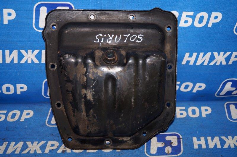 Поддон масляный двигателя Hyundai Solaris RB 1.4 (G4FA) 2013 (б/у)