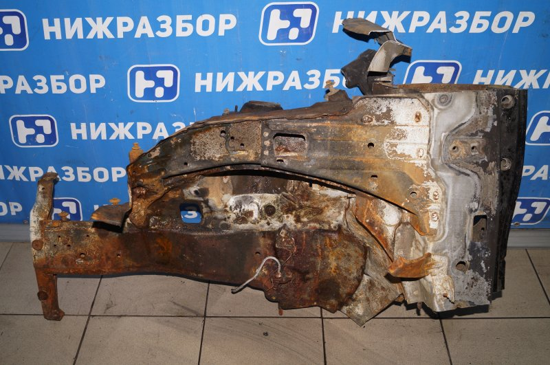 Лонжерон Hyundai Solaris RB 1.4 (G4FA) 2013 передний левый (б/у)